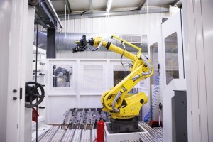 Picture 3 - Robot arm at Ilmor Engineering (Brixworth), part of the SIlverstone Technology Cluster